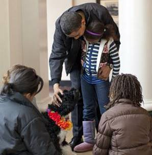 Sasha Obama Pink kids sheepskin boots Boots